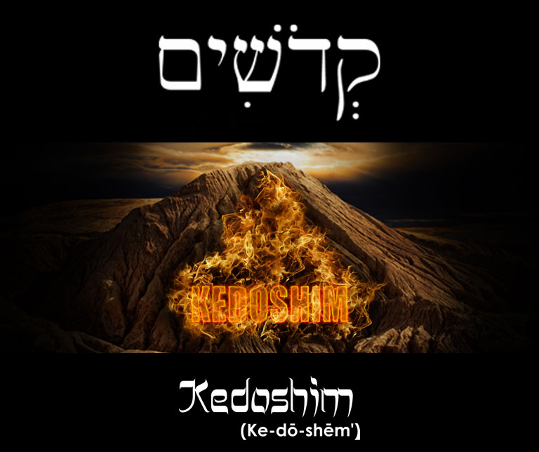Kedoshim Burning Logo on Mountain